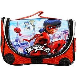 Miraculous - Le storie di Ladybug e Chat Noir Marinette Beauty Case da Viaggio per Make Up per Ragazza Bambina Portatutto Idea Regalo