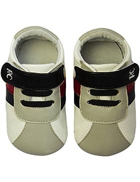 Rose & Chocolat RCM Grey RunnerZ Baby Jungen Krabbelschuhe & Puschen Sneaker