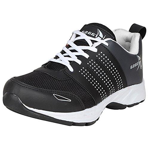 Kraasa Men's Mesh Running Sports Shoes, 10UK(BlackGrey, 7053 Model)