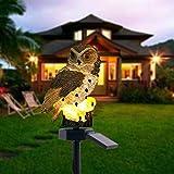 Solarlicht-Eulen-Form-Licht, LED-Gartenlichter Solarnachtlichter, angetriebene Rasen-Lampen-Licht für Patio, Yard, Party Dekoration(Brown)