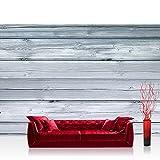 Vlies Fototapete 416x254cm PREMIUM PLUS Wand Foto Tapete Wand Bild Vliestapete - Holz Tapete Holzwand Holzoptik Holz Paneele grau - no. 2811