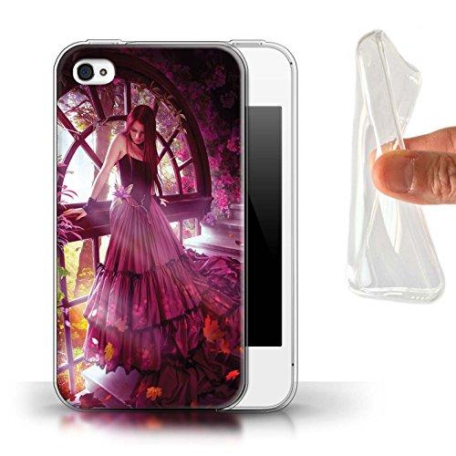 Officiel Elena Dudina Coque / Etui Gel TPU pour Apple iPhone 4/4S / Par le Vent Design / Un avec la Nature Collection Couleurs d'Automne