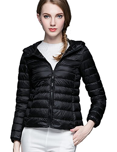 CHERRY CHICK Women's Packable Down Jacket with Hood (Plus Size Available) Test