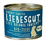 Liebesgut Bio Hundefutter Ziege mit Süßkartoffel und Zucchini,  12er Pack (12 x 200 g)