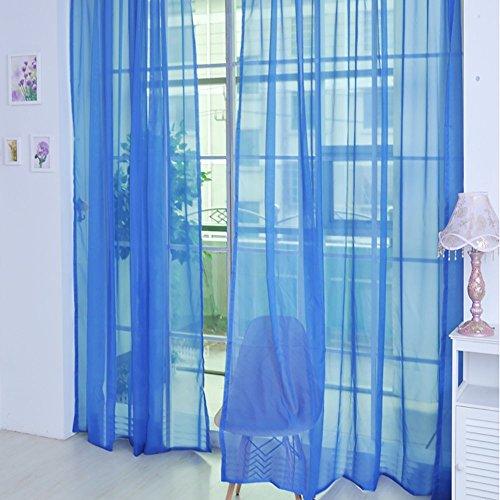Tuttavia 1 STÜCKE Reine Farbe Tüll Türfenstervorhang Drapieren Panel Sheer Schal Volants (Multicolor 32L)