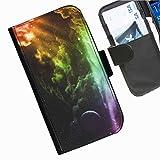 Hairyworm- Universum Seiten Leder-Schützhülle für das Handy Blackberry Z10