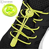 Tannlines No Tie Laces - Elastic Lacing System for Sports Shoes | for Running, Marathons, Trekking, Golf, Football, Tennis, Triathlon and All Athletic Activities | Never Tie Your Laces Ever Again!