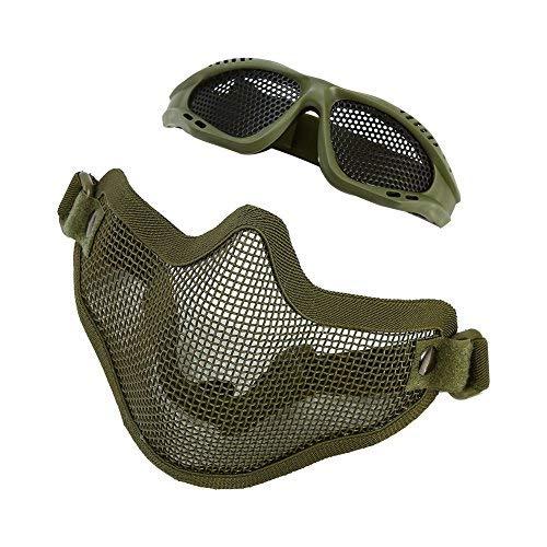 Máscara Malla Media Cara Gafas Protectora Metálica