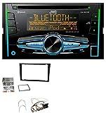 JVC KW-R920BT Bluetooth 2DIN Aux CD MP3 USB Autoradio für Opel Corsa C Signum Vectra B ab 2005 Charcoal