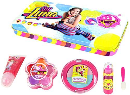SOY LUNA Beauty-Set in stylischer XL Metalldose, 1er Pack (Metallbox, Lipgloss-Tube, Lippenstift,...