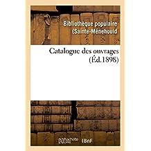 Catalogue des ouvrages