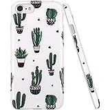 iPhone 7 Hülle, JIAXIUFEN Cute Green Cactus Flexible TPU Silikon Schutz Handy Hülle Handytasche HandyHülle Etui Schale Case Cover Tasche Schutzhülle für Apple iPhone 7 /iPhone 8