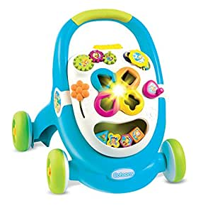 Smoby 110303 - Cotoons Trott - Trotteur pour Enfant - MultiFonction - sons et Lumières - Bleu
