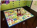 GLOBOLANDIA Tappeto Bambini Ultra Spessore 92715 Ideale per Il Gattonamento 180x150x2 Double Face ( Lettere/Numeri ) - Novita'