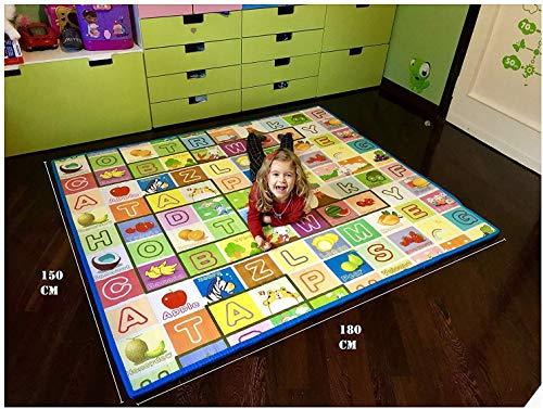 GLOBOLANDIA Tappeto Bambini Ultra Spessore 92715 Ideale per Il Gattonamento 180x150x2 Double Face Novita