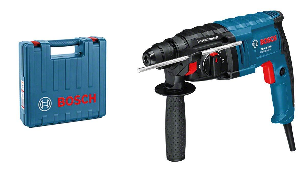 Bosch Professional 061125A400 GBH 2-20 D Bohrhammer, 650 W, 240 V, schwarz, blau