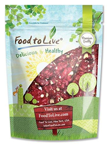 Food to Live Rote Kalifornische Walnüsse (Roh, Ohne Schale, Koscher, Bulk) (8 Unzen) (Fisch Schalen Bulk)