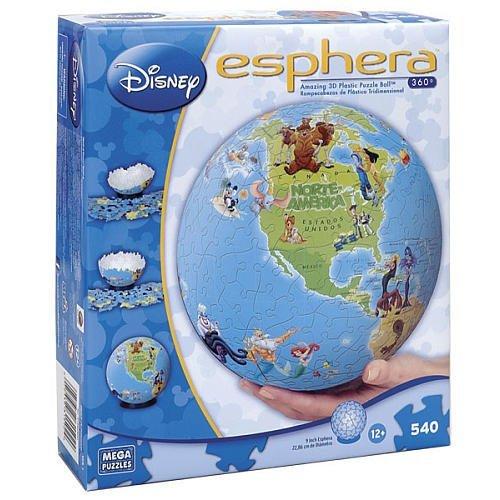 Disney Esphera 9 inch Globe Puzzle - 540-Piece - North and South America