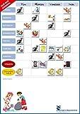 DIN A3 Familienplan Haushalt Wochenplaner Kühlschrank Magnetfolie Pinnwand Eisenfolie