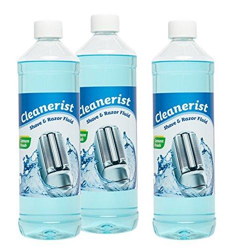 Cleanerist Scherkopfreiniger passend für Braun Rasierer CCR-Kartuschen, für Reinigungskartuschen, 3x1 Liter