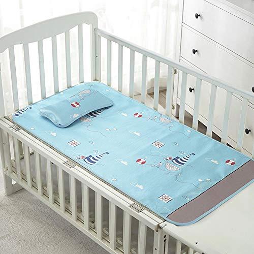 Baby-Sommer-Kühlmatte ausgestattet Krippe Blätter Set - tragbare Matratze Topper Krippe für Baby Jungen Mädchen - Tagesdecke Ausgestattet