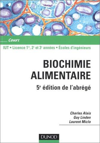 Abrégé de biochimie alimentaire par Charles Alais