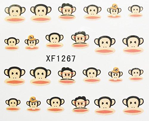 Nail art - Stickers décalcomanie - motifs singes - 1267