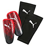 Puma One 17.3 with Sleeve Schienbeinschoner, Red Blast Black, M