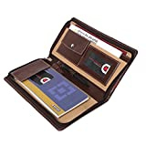 #10: Coi Expendable Faux Leather Cheque Book Holder/Document Holder (Brown and Chocolate Brown)