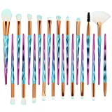Pawaca Makeup Brushes Set,20 Pieces Diamond Handle Makeup Brush Professional Makeup Brush Set Face Eye Shadow Lip Blush Eyebrow Makeup Brush Liquid Powder Cosmetics Brush Tool
