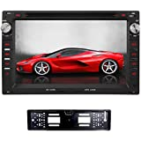 YINUO 2 DIN 7 inch touchscreen car DVD player +Reverse Camera for Peugeot 307, VW Bora(MK3,4) Jetta Sharan Seat Ibiza 6L Ford Galaxy , VW Polo (MK3,4) Passat B5(MK5) with 800 * 480 touch screen support GPS iPhone IPOD Steering Wheel Control Bluetooth DVD DVR AV-IN with Free External Mic & 8GB cards card as gifts