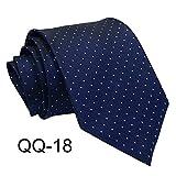 Sfit Cravates Homme Classique pour Chemises Costume Mariage Soirée 8cmx145cm