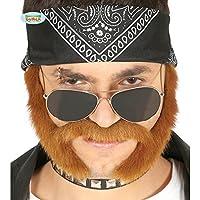 NET TOYS Moustache Biker avec des favoris   Moustachu et Barbes   barbouze et  rouflaquettes Motocycliste eb85b042d823