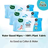 Mother Sparsh Baby Water Wipes (Pack of 3, 80 Wipes)