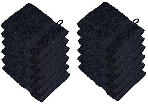 starlabels Serviettes Disponible en 15 couleurs et 5 dimensions doux saugstark 500 g/m², 100% coton, Öko Tex, Coton, Noir, 15 cm x 21 cm