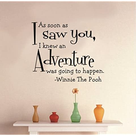 Toprate non appena I (TM)-you, Conoscevo an adventure è stata going to happen, motivo: Winnie the Pooh-Adesivo da parete rimovibile, 48,26 cm X cm (19 58,42 (23 W