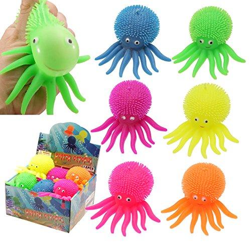 1 x Farbiges Knautschbares Oktopus HaustierGeschenkidee für gestresste