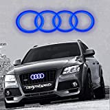 Motorfox Blau Ringe LED Kuhlergrill Emblem Leuchtende Ringe Logo Tagfahrlicht A3 A4 A5 A6
