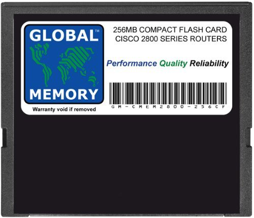 GLOBAL MEMORY 256 MB Compact Flash Card Speicher für Cisco 2800 Series Router (Cisco P/N MEM2800-256 CF, MEM2800-64u256cf) (Series 2800 Cisco)