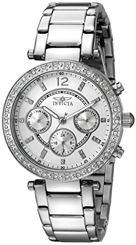 invicta damen armbanduhr chronograph edelstahl silber. Black Bedroom Furniture Sets. Home Design Ideas