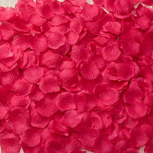 100 stücke Künstliche Rosenblätter, TheBigThumb Pink Silk Rose Blütenblätter Hochzeit Tisch Konfetti Braut Party Dekoration Bridal Shower Favor Mittelstücke (Pink Silk Rosen)