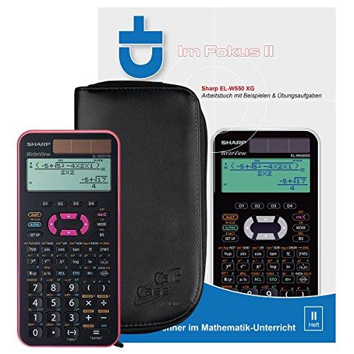 Sharp EL-W531 XG PK (pink) + CalcCase Schutztasche Schwarz + Buch: Im Fokus II