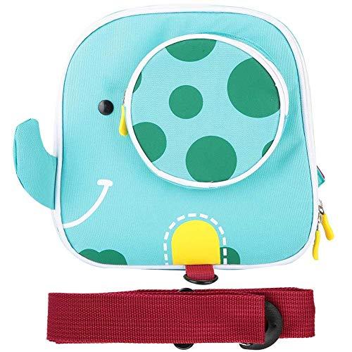 Mochila Infantil Mochila anti perdida, mochila de ocio de viaje de elefante animal de dibujos animados con un arnés de seguridad para caminar para niños