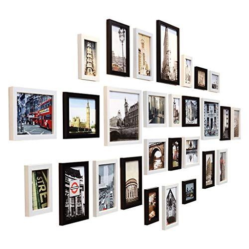 Sala estar creativa Pared fotos Madera maciza Combinación