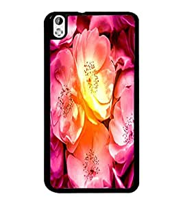 PrintDhaba Flowers D-3418 Back Case Cover for HTC DESIRE 816 (Multi-Coloured)