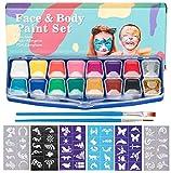 henmi Set di trucco per bambini Face Paint – 14 colori trucco Palette set di trucco per bambini di ideale per bambini feste ragazza & Carnevale per bambini trucco viso dipinto dipinto, corpo