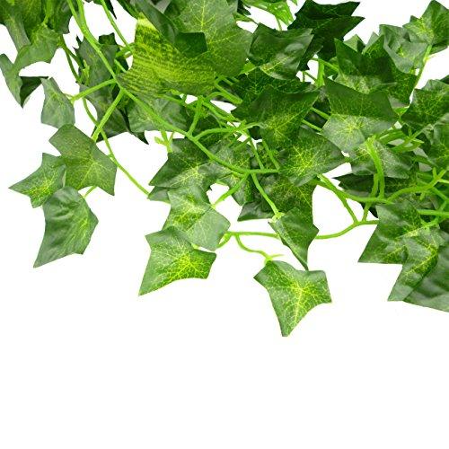 Gofriend edera artificiale decorativa con foglie verdi for Giardino artificiale