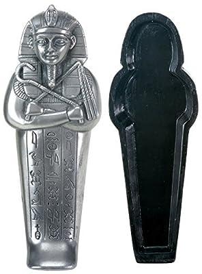 Silver Egyptian Pharaoh Coffin Display Statue