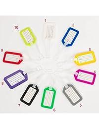 Paquete de 10 etiquetas de viaje impermeables para equipaje con tarjeta de identificación de línea aérea para maletas, jaula para mascotas, portabicicletas IDTag