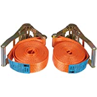 Braun 200-1-600/VE2 Lashing Strap 4000 daN Two-Piece Set Colour Orange 6 m Length 50 mm in Width with Ratchet